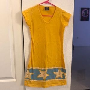 Mini dress yellow brazilian